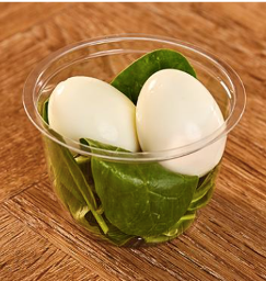 Pret Egg and Spinich Pot