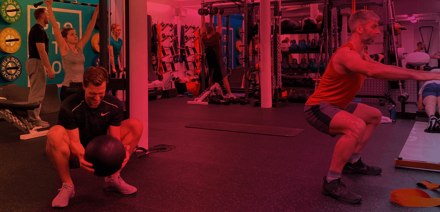 Small Group Training Header image in the gym
