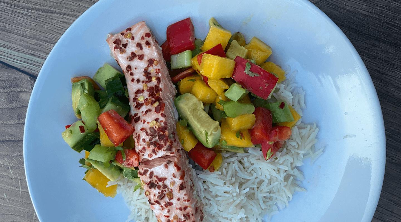 Spicy Salmon & Mango Salsa