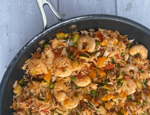 Leaner Life: Prawn, Chorizo and rainbow rice