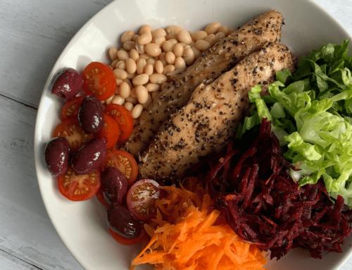 Leaner Life: Smoked Mackerel, rainbow salad and Haricot Beans